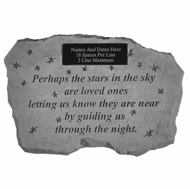 personalized memorial stone perhaps the stars in the sky - Personalized Garden Stones