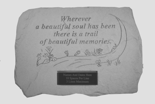 Personalized Memorial Stone - Wherever A Beautiful Soul