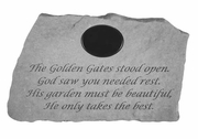 Personalized Memory Stone - The Golden Gates Stood Open