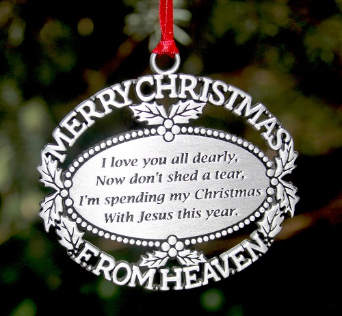 - Personalized Merry Christmas From Heaven Ornament