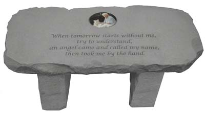 Personalized Photo Memorial Bench An Angel Called