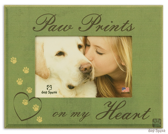 pet memorial frame paw prints on my heart - Dog Memorial Picture Frames