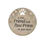 Pet Memorial Paw Prints Stone