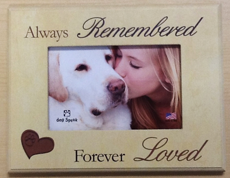 Pet Memorial Picture Frame - Always Remembered