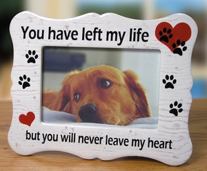 pet memorial remembrance frame - Dog Memorial Frame