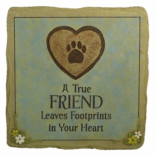 Pet Memorial Stone - A True Friend