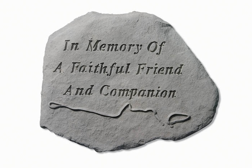 Pet Memorial Stone - In Memory Of A Faithful Friend