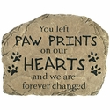Pet Memorial Stone - Paw Prints