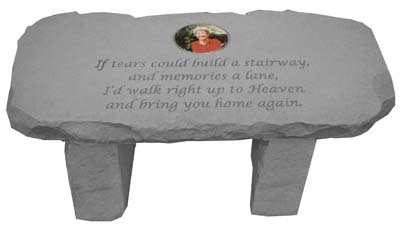 Photo Garden Memorial Bench - If Tears Could Build
