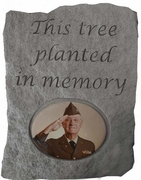 Planted in Memory Photo Remembrance Stone