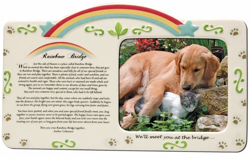 Rainbow Bridge Pet Remembrance Frame