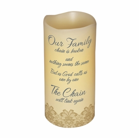 Remembrance Candle - Our Family Chain is Broken