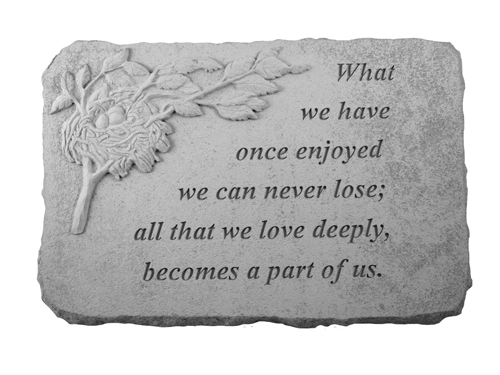 Remembrance Stone - Helen Keller Quote