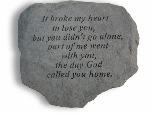 Remembrance Stone - It Broke My Heart to Lose You