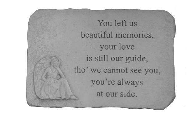 Remembrance Stone You Left Us Beautiful Memories