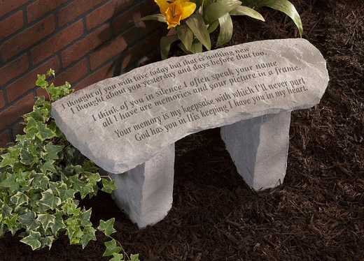 Fantastic Memorial Garden Bench I Thought Of You With Love Today Dailytribune Chair Design For Home Dailytribuneorg
