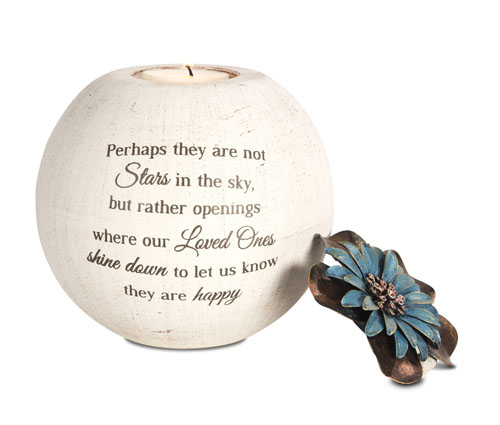 Sympathy Candle Holder - Perhaps They Are Not Stars