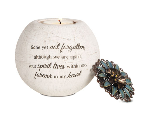Sympathy Gift Candle Holder - Forever in my Heart