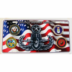 American Flag License Plate Four Services