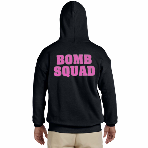 Bomb Squad Sweatshirt with Pink back print only