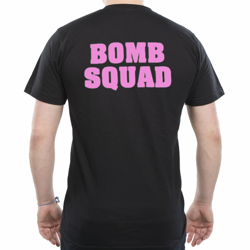 Bomb Squad T-shirt with Pink back print only
