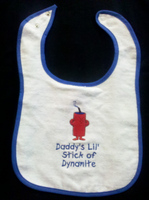 Boy Baby Bib Lil Stick of Dynamite
