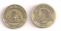 International EOD Pewter Coin