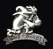 Guy Fawkes Bomber Pin