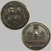 Master Blaster Brass Coin with Gold Trim