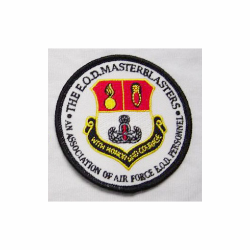 Embroidered Patch with Masterblaster Shield and Lettering