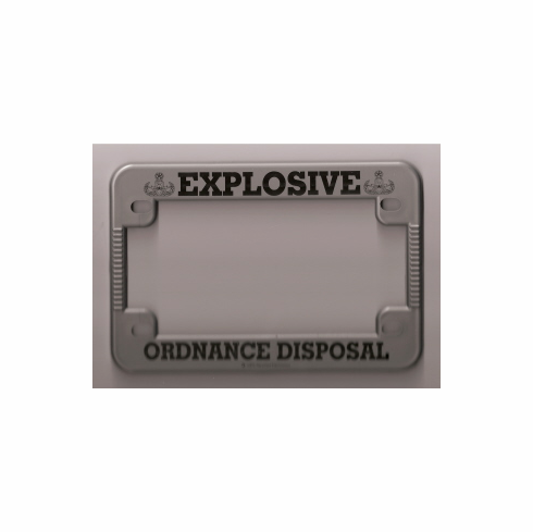 EOD Motorcycle License Plate Frame
