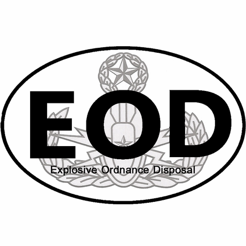 EOD Oval with Badge