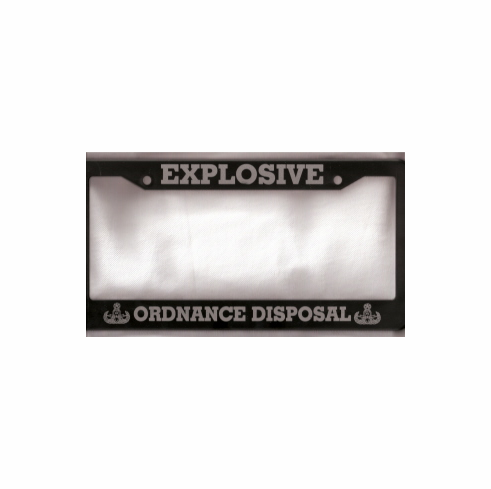 EOD Vehicle License Plate Frame