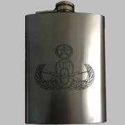 Flask with Badge