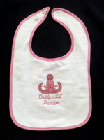 Girl Baby Bib with Crab and Lil Princess