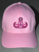 Pink Velcro Hat w/ Pink Badge
