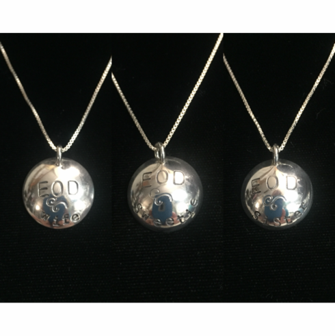 Hand Stamped Dome Necklace