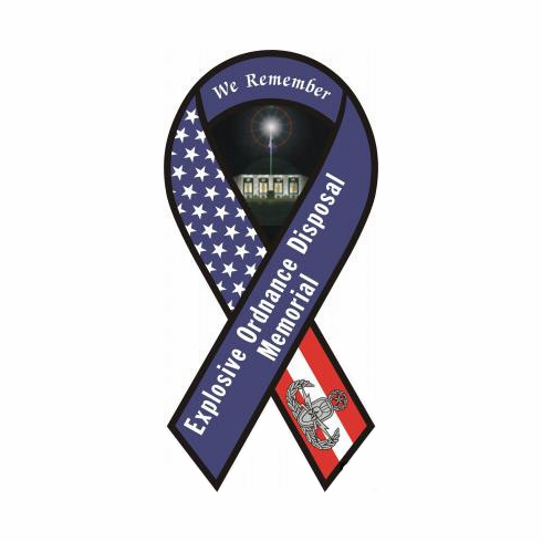 Large EOD Memorial Ribbon Decal