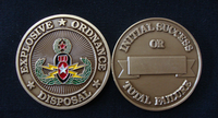 EOD Colored Brass Challenge Coin