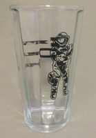 Pleated Clear Pint Glass