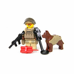 Explosive Ordnance Disposal Specialist and K9 Minifigure