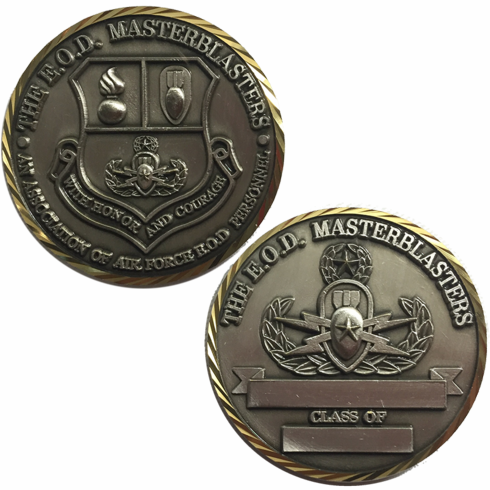 MasterBlaster Gold Trimmed Brass Coin