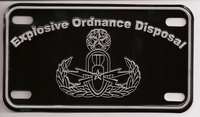 Motorcycle EOD License Plate