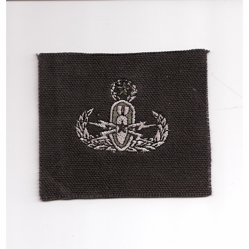 Patch-Cloth Master Silver on Black