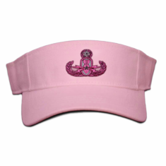 Pink Visor with Badge