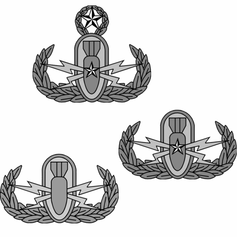 Small Adhesive EOD Badge Decal