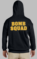 Bomb Squad Sweatshirt with Gold back print only