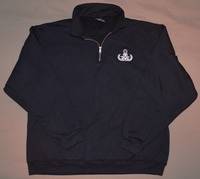 Quarter Zip Embroidered Badge Sweatshirt