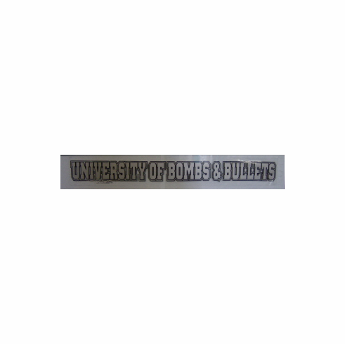Static Decal-University of Bombs & Bullets