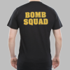 Bomb Squad T-shirt with Gold back print only